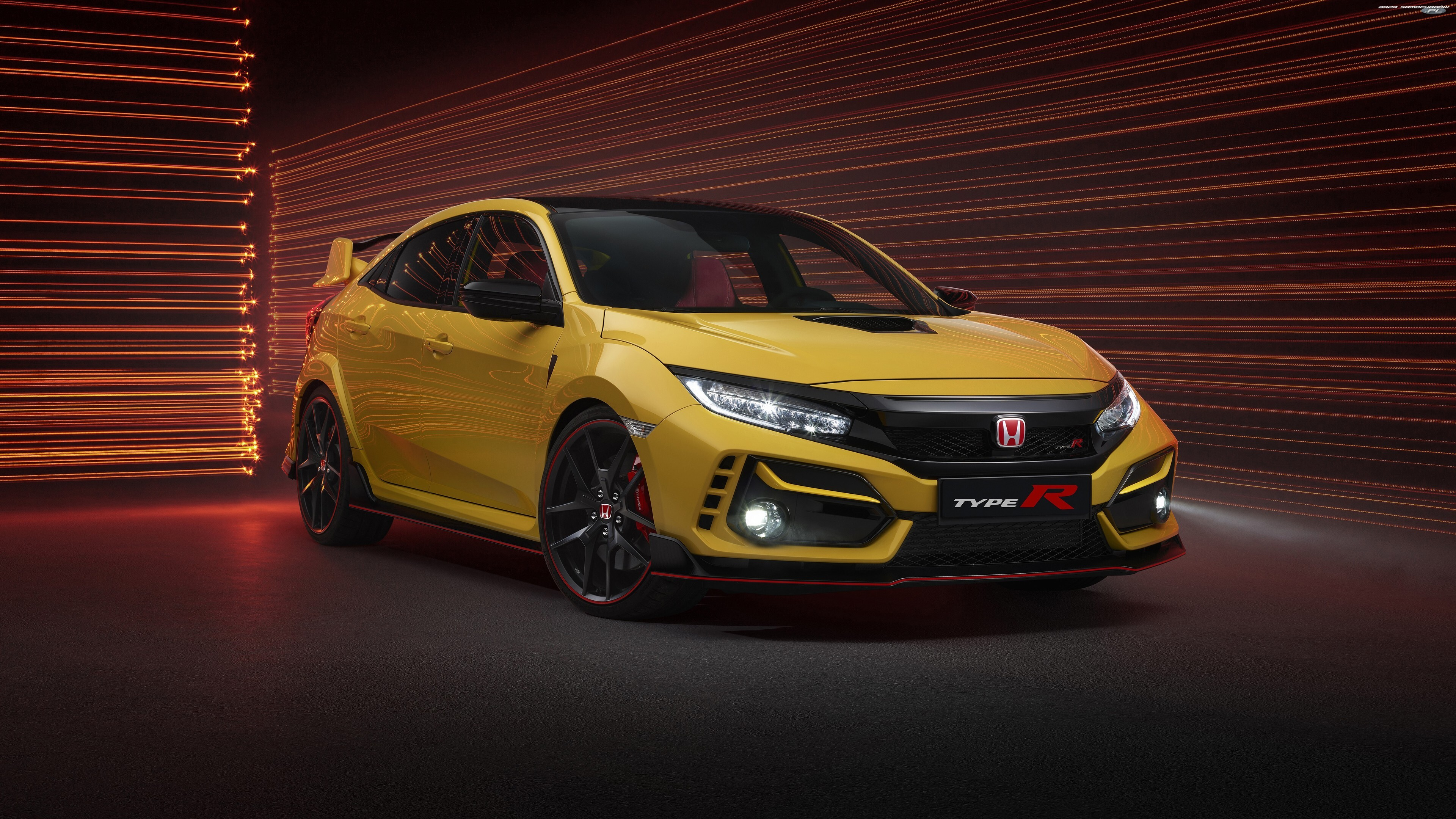 2020, Żółta, Honda Civic Type-R