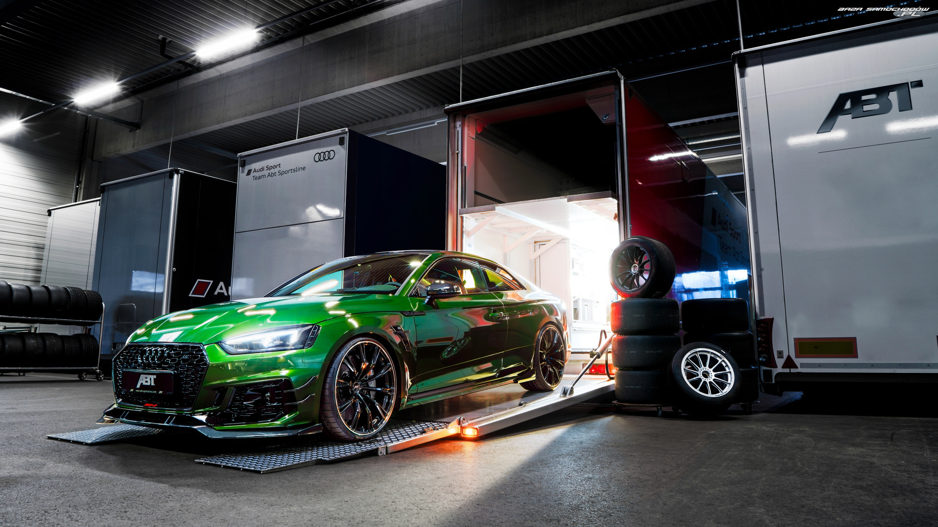 Coupe, Zielone, Audi RS5