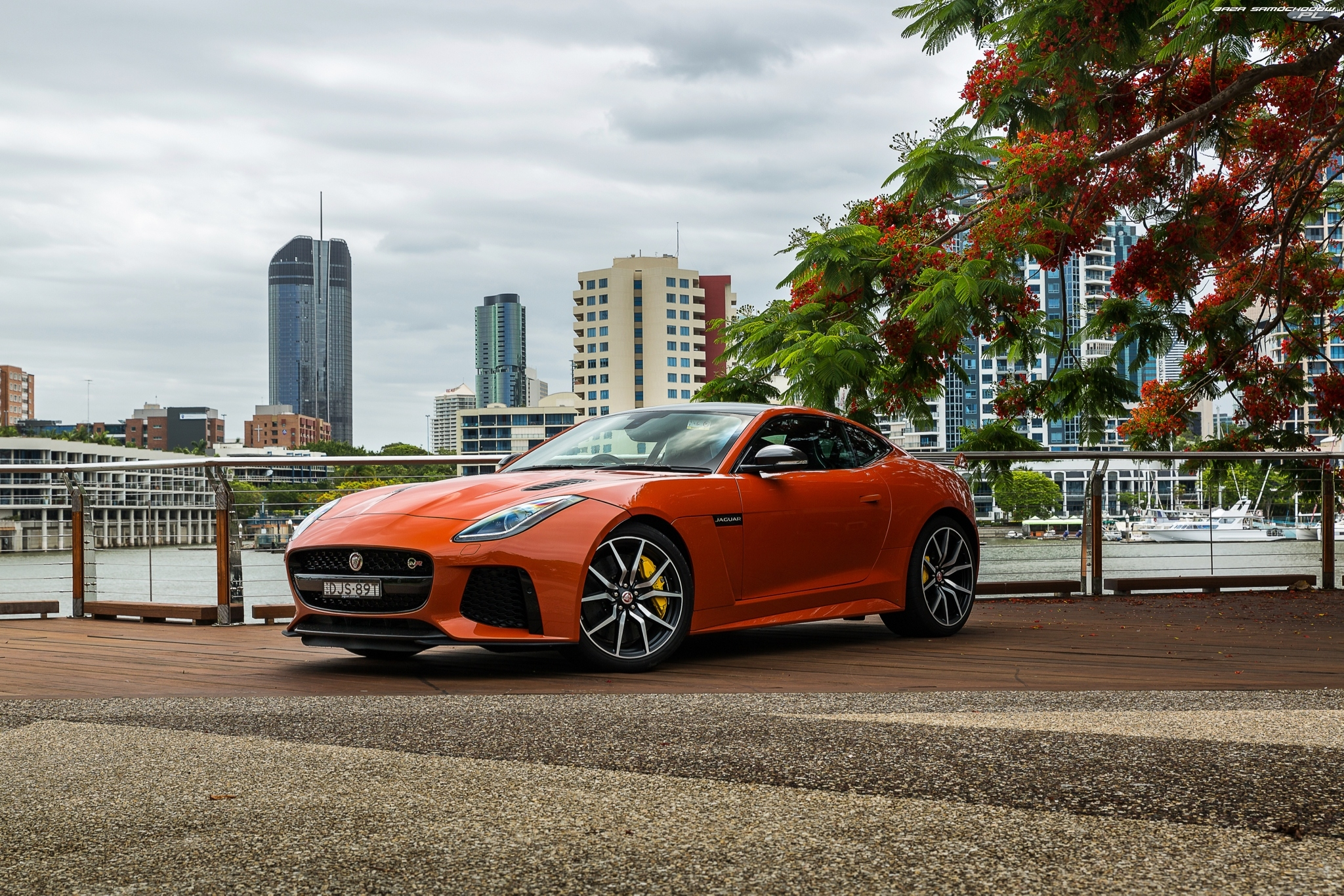 2016-2017, Jaguar F-Type SVR Coupe, Orange Metallic
