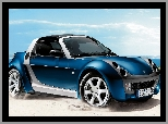 2005, Morze, Smart Roadster Bluestar, Piasek