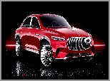 SUV, Czarne tło, Mercedes Maybach Ultimate Luxury, Concept