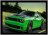 Dodge, SRT, Zielony, Challenger