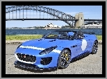 Tło, Project 7, Niebieski, Rozmyte, Sydney, F-type, Jaguar, Most